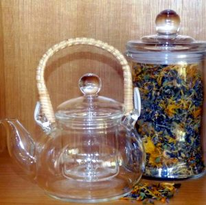 Glass Teapot with Bamboo handle